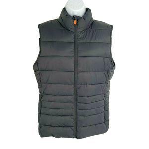 Save the Ducks Vegan Vest Gray Zip Pocket Plumtech